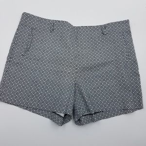 Cato Black and White Printed Summer Shorts